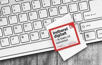 Billede med teksten Indberet digitalt - få hjælp på biblioteket