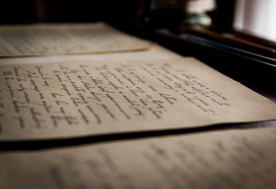 Billede af gamle breve