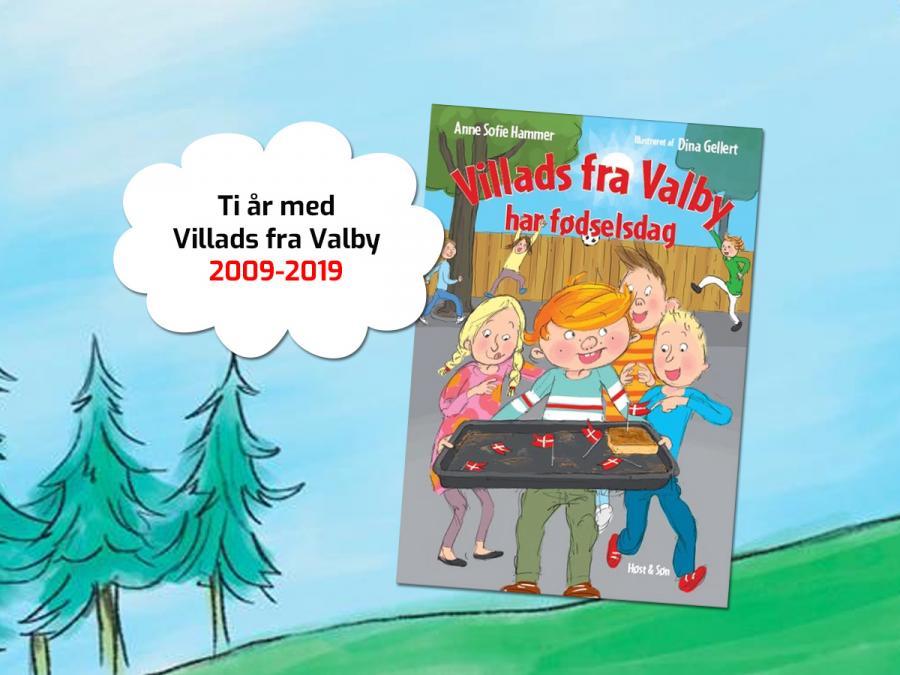 Foto af bogen Villads fra valby holder fødselsdag