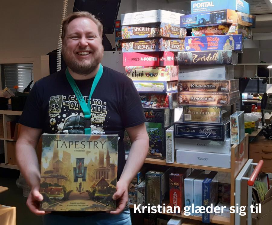 Kristian glæder sig til at spille Tapestry