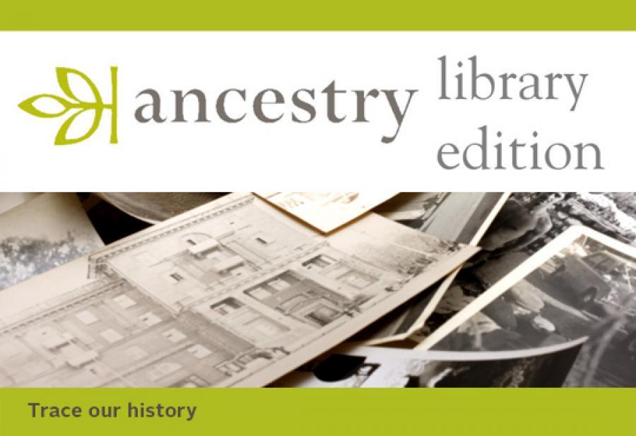 Logobillede af Ancestry slægtsforskningsdatabase