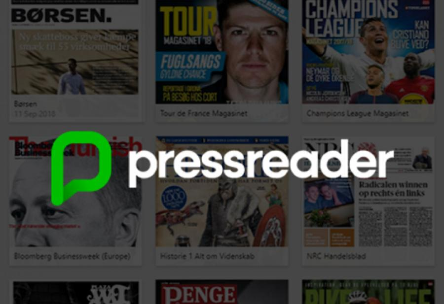 Logobillede Pressreader aviser og magasiner