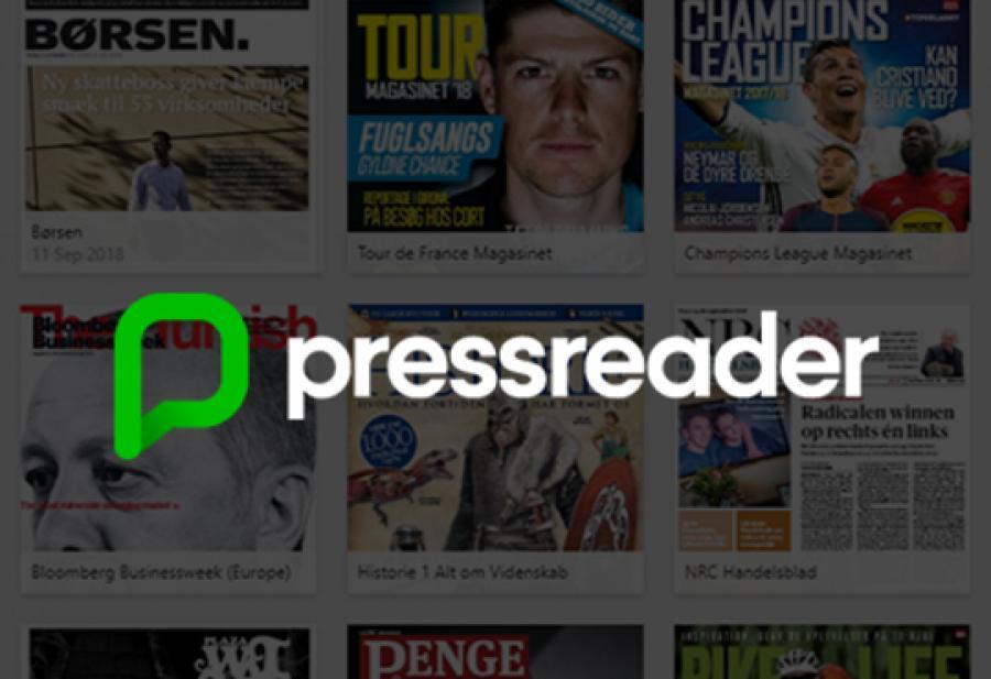 Logobillede Pressreader aviser og magasiner