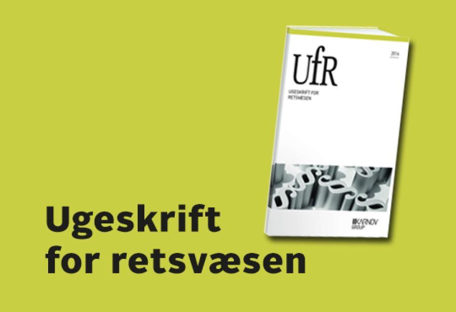 Logobillede af Ugeskrift for retsvæsen
