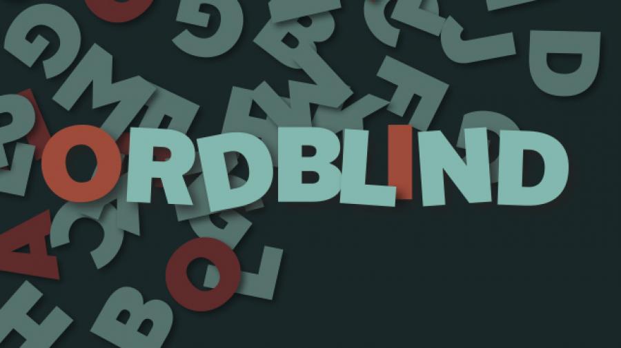 Billede med ordet ordblind