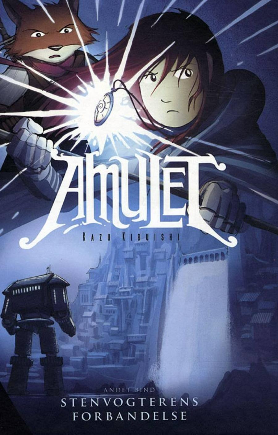 Forsidebillede af tegneserien Amulet 2 Stenvogterens forbandelse af Kazu Kibuishi