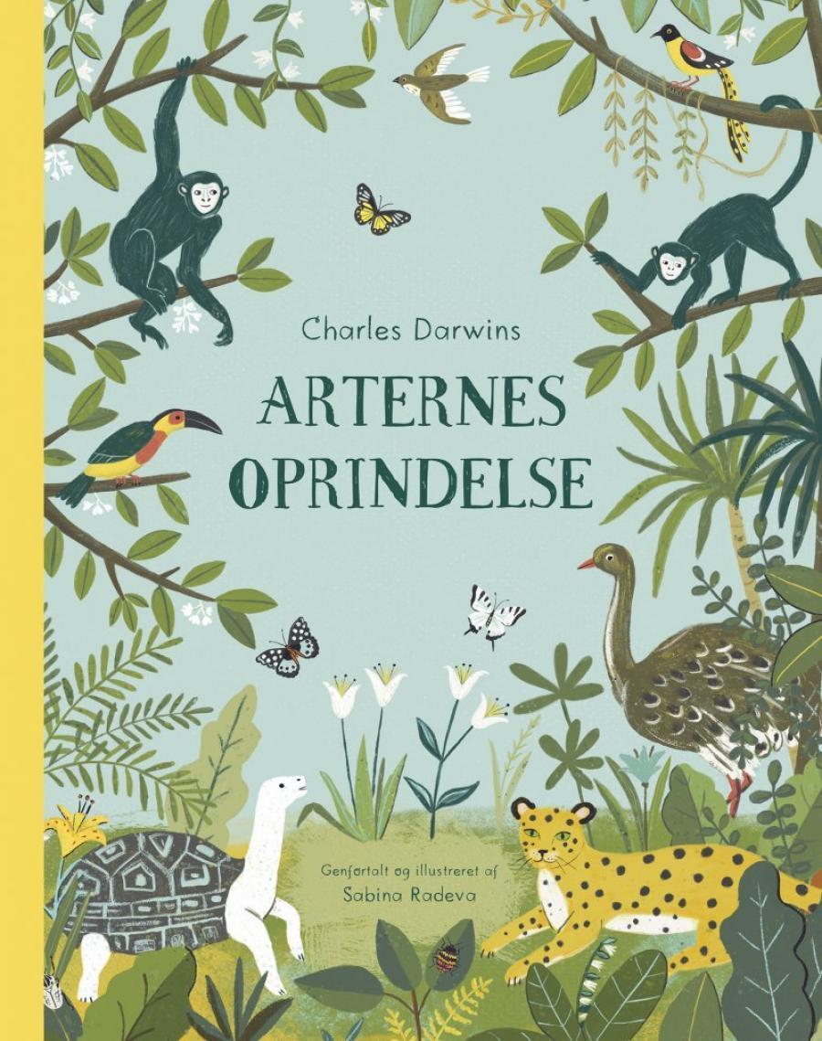 Billede af bogen Charles Darwins Arternes oprindelse genfortalt og illustreret af Sabina Radeva
