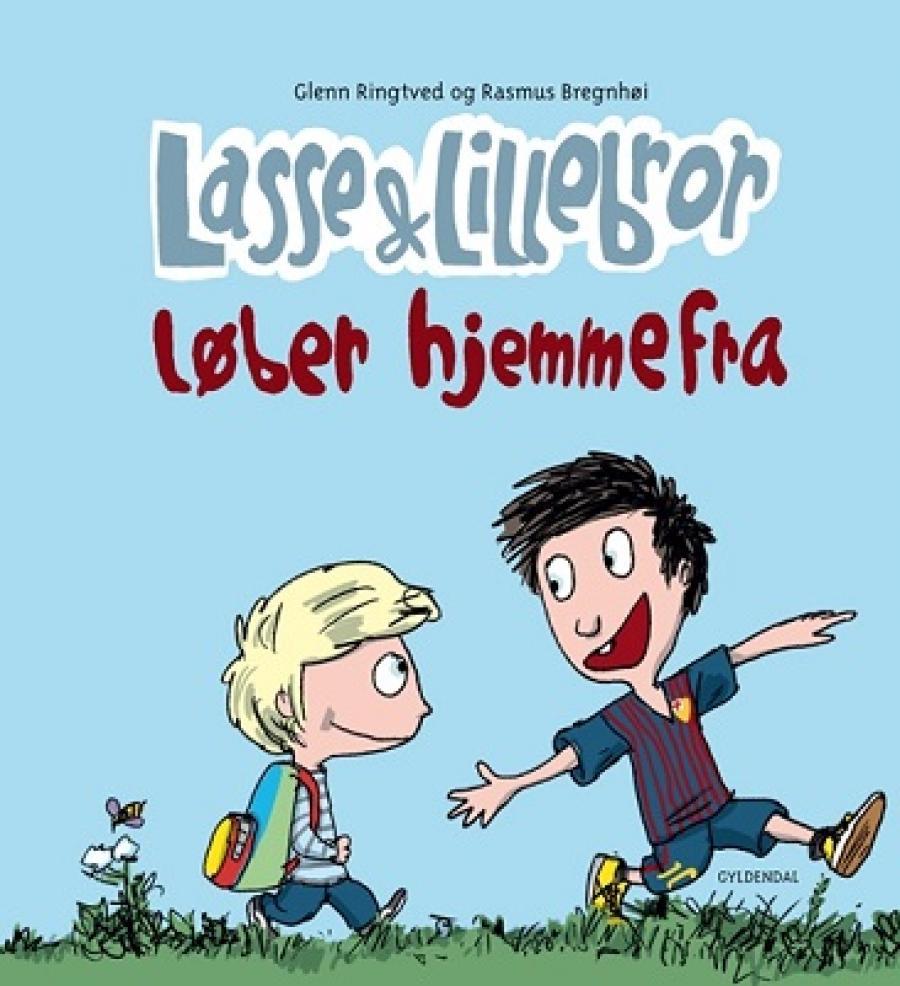 Forside af bogen Lasse og lillebror løber hjemmefra
