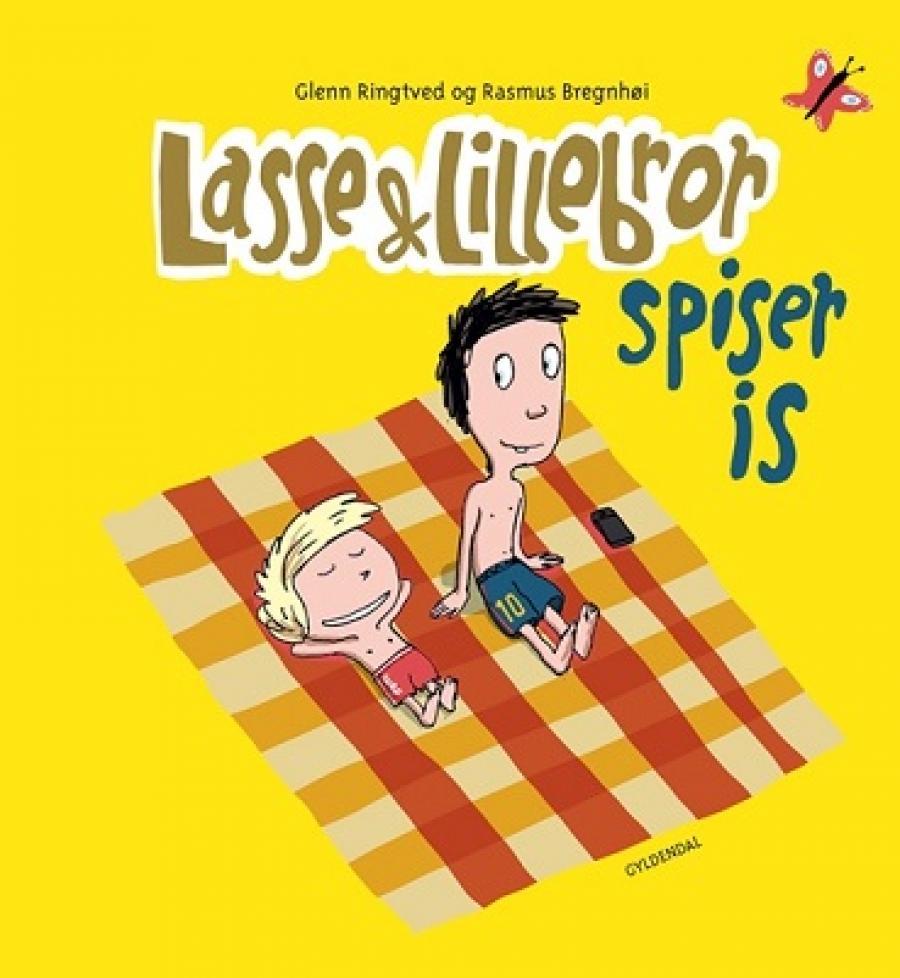 Forside af bogen Lasse og lillebror spiser is