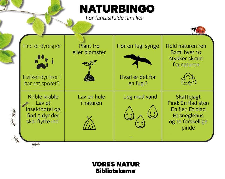 Naturbingo - bingoplade