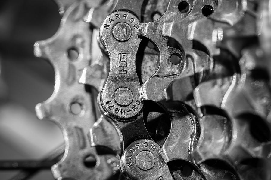 Billede af tandhjul fra en cykel