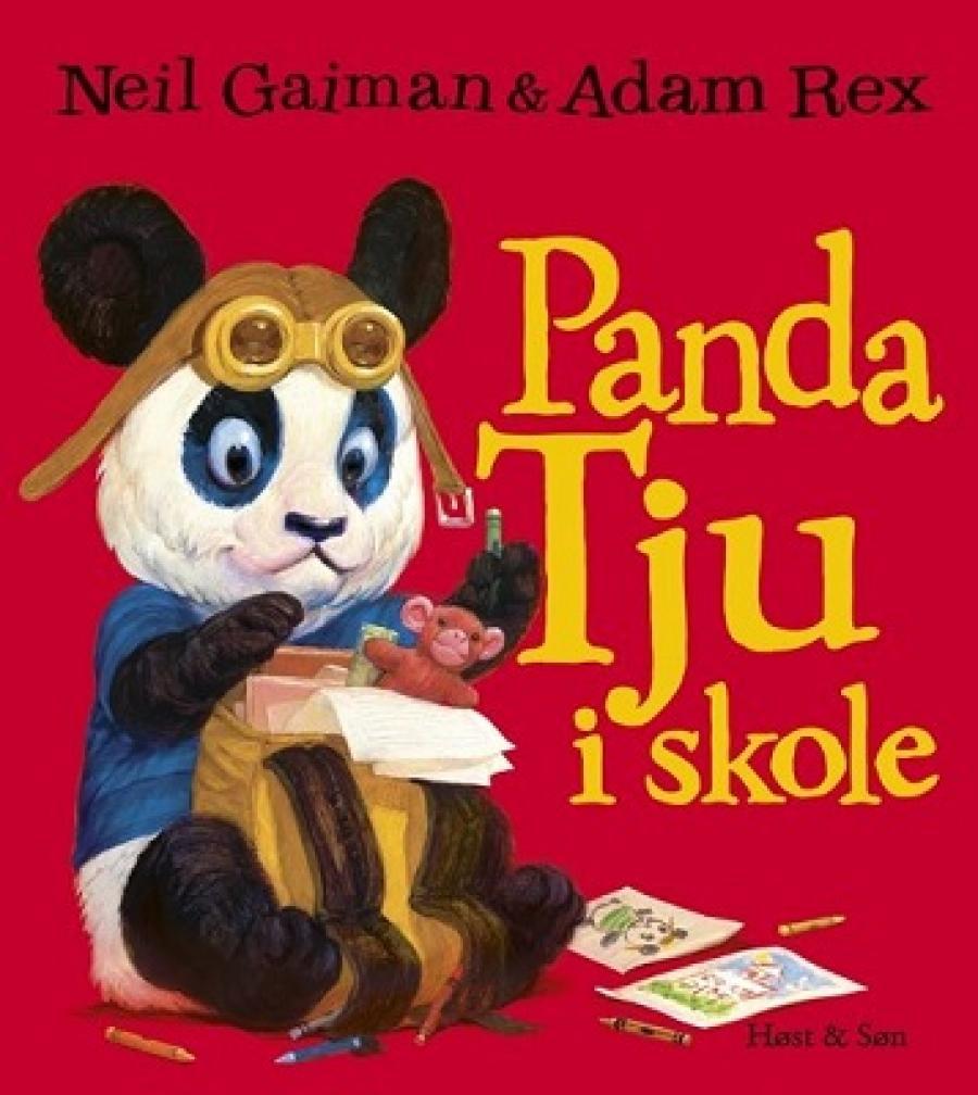 Forside af billedbogen Panda Tju i skole af Neil Gaiman