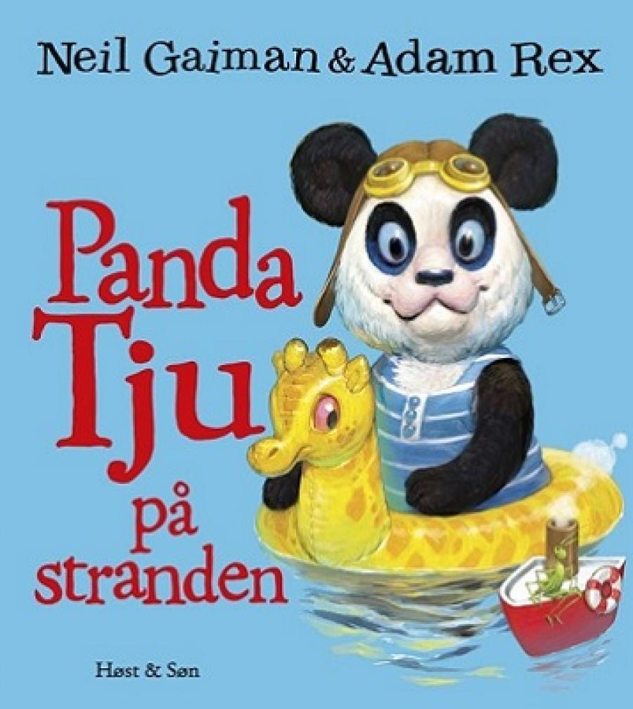 Forside af billedbogen Panda Tju på stranden af Neil Gaiman