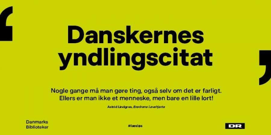 Danskernes yndlingscitat er fundet