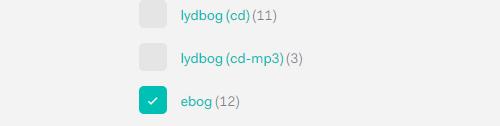 Billedet viser, at du skal klikke på ebog under materialetype